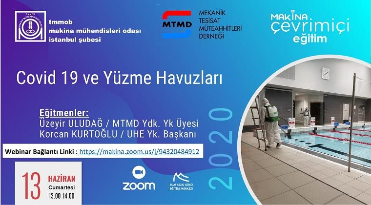 MMO ve MTMD'nin Ortak Webinarında Covid-19 ve Yüzme Havuzları Konusu Ele Alındı