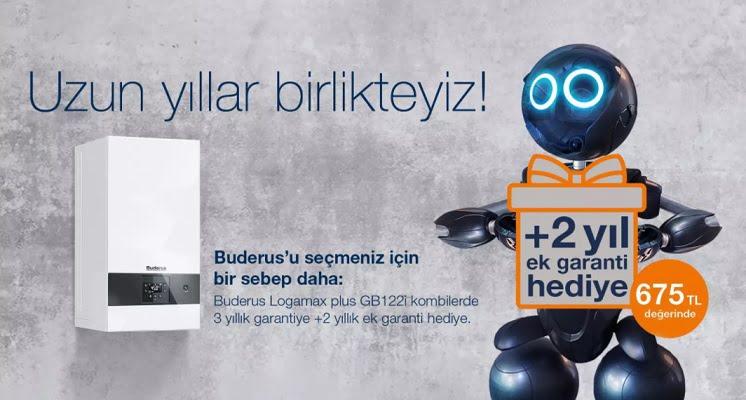 Buderus'tan Logamax plus GB122i Kombilerde Ek Garanti Kampanyası