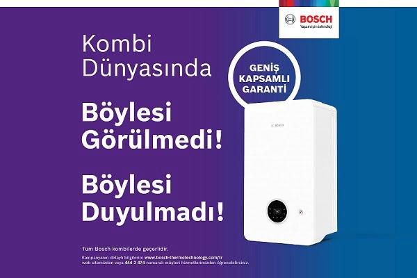 """Bosch Termoteknoloji'den """"Geniş Kapsamlı Garanti"""""""